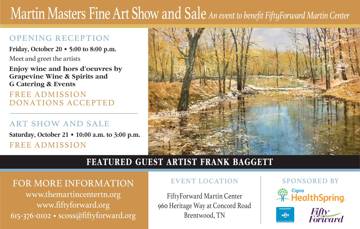 Martin Masters Fine Art Show and Sale | Williamson, Inc