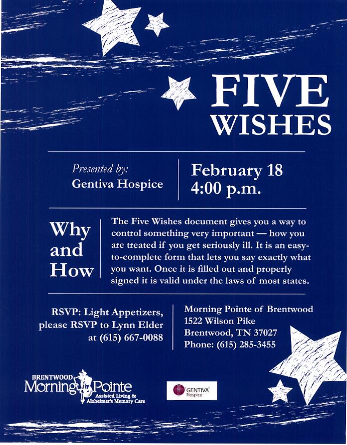 5 wishes flyer