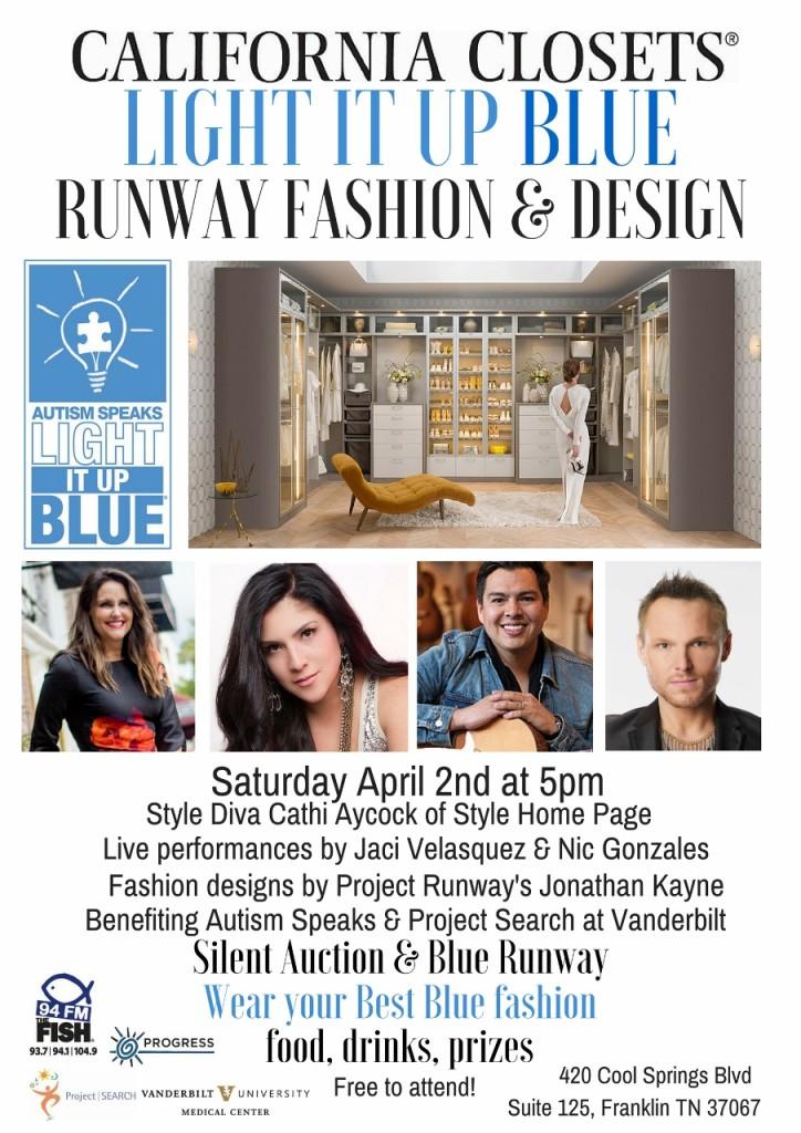California Closets 'Light It Up Blue' fashion and design